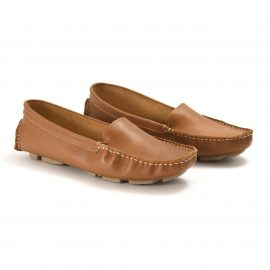 mocasin liso color camel lateral